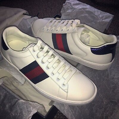 0041b568541 MENS GUCCI ACE leather low top sneaker trainers 100% authentic size ...
