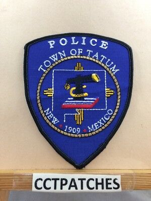 Town Of Tatum, New Mexico Police Shoulder Patch Nm