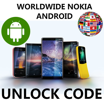 Worldwide Unlock Nokia Android All Networks Code Portugal Spain Canada France