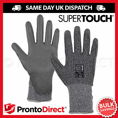 120 Pairs Pu Anti Cut Resistant Work Safety Gloves Builders Protection Level 5