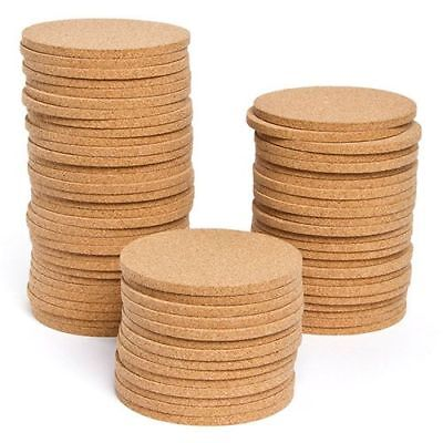DIY Plain Round Cork Coasters Table Cup Dining coaster 9,5cm diameter 6mm thick