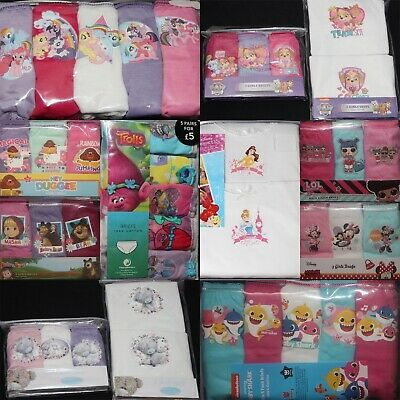 Girls Multi-packs of Character BRIEFS/KNICKERS and/or VESTS - Sizes 18M - 10 Yrs