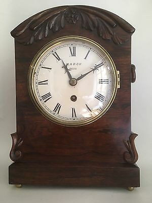Lovely Regency or William IV bracket clock, Norfolk interest, Marsh of Diss