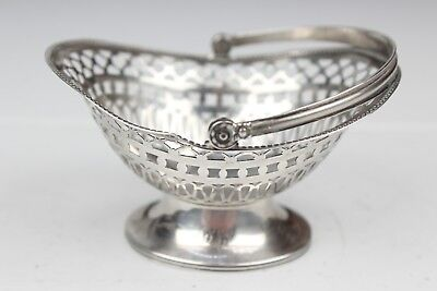 "Vintage Stainless Steel Basket with engravings 4"" x 2.5"""