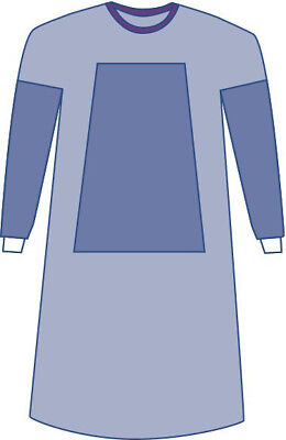 Sterile Fabric-Reinforced Sirus Surgical Gowns with Set-in Sleeve 1 EA