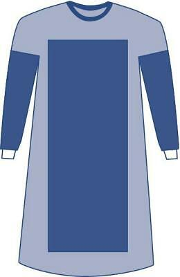 Sterile Poly-Reinforced Aurora Surgical Gowns, Blue, Large 30 EA