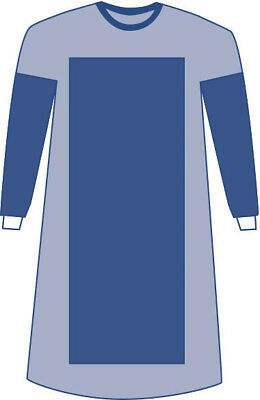 Sterile Poly-Reinforced Aurora Surgical Gowns, Blue, Large 18 EA