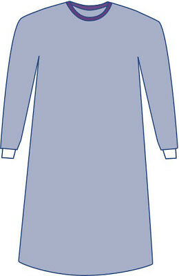 Sterile Non-Reinforced Sirus Surgical  Gowns w/Set-In Sleeves, Blue, 2XL 18 EA