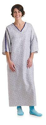 Medline Healing Colors Collection IV Gowns-Tranquility-3XL-MDTOG5ITSTRN-PK of 12