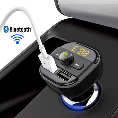 Bluetooth Car Kit Wireless FM Transmitter Dual USB Charger Audio MP3 Player BT20