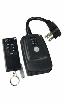 Heavy Duty Weatherproof 120 FT Range Digital Timer Switch With Remote Control