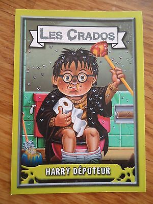 Image * Les CRADOS 3 N°142 * 2004 album card Sticker FRANCE Garbage Pail Kid