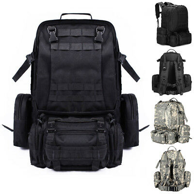 US Larger Molle Outdoor Military Tactical Bag Camping Hiking Trekking Backpack