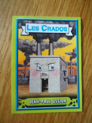 Image * Les CRADOS 3 N°6 * 2004 album card Sticker FRANCE Garbage Pail Kid