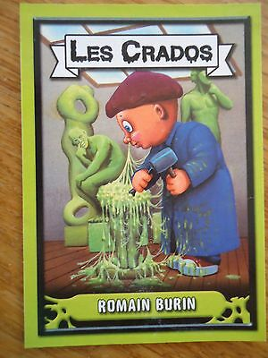Image * Les CRADOS 3 N° G9 * 2004 album card Sticker FRANCE Garbage Pail Kid