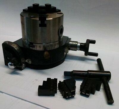 "3"" Tilting Rotary Table W/ 3 Jaw Self Centering Chuck  **new**"