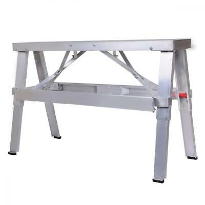Costway Aluminum Heavy Duty Drywall Walk-Up Adjustable 18''-30'' Folding Bench