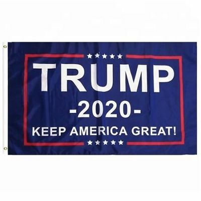 3'x5' Trump Flag 2020 - Keep America Great - Elect Donald For USA President - US