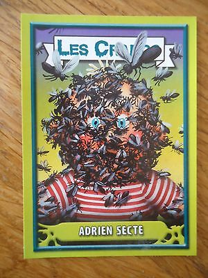Image * Les CRADOS 3 N°100 * 2004 album card Sticker FRANCE Garbage Pail Kid