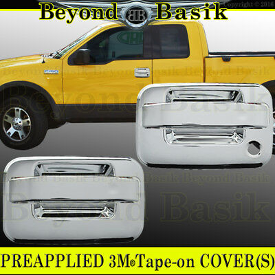 2004-2014 FORD F150 Chrome ABS Door Handle COVERS Trims W//Keypad W//Out PSK 4DR