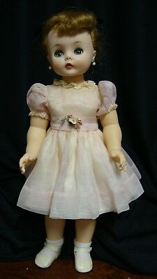 "Vintage 20"" Kelly Doll  ~Madame Alexander ~Rare Tagged Organza Party Dress"