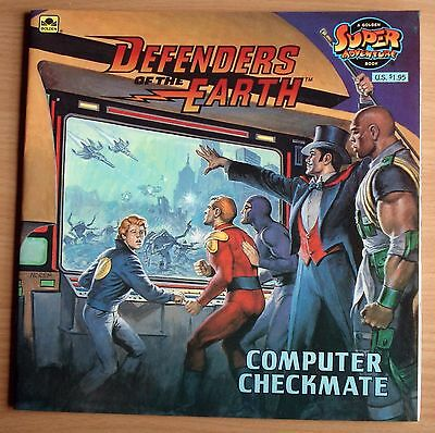 Defenders Of The Earth : Computer Checkmate : Golden Super Adventure Book : VGC