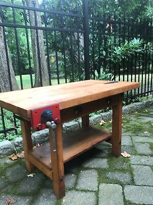 Antique Child's Shop Work Bench From The Nyc School System