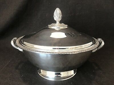 Christofle Malmaison Covered Vegetable Tureen Bowl France Silver Plate Stunning!
