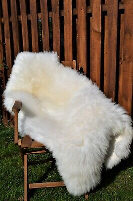 The Biggest Sheepskin Rugs.100% Natural. Very Fluffy and Soft+Free Rug Brush