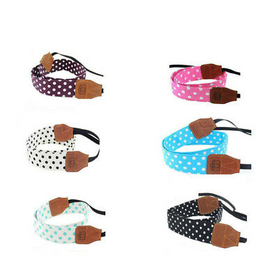 Neck Strap For SLR/DSLR Universal Polka Dot Pattern Retro Shoulder Belt Camera
