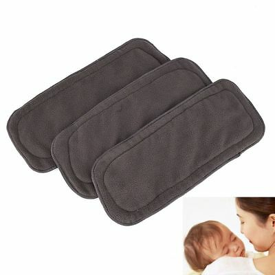 Care Insert Natural Nature Baby Diaper Bamboo Charcoal Cloth Reusable 5 Layers