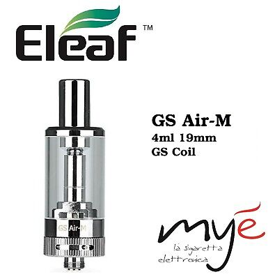 ELEAF GS Air M Atomizzatore 4ML 19mm SILVER ( Egon One ,DUO, Cubis , Nautilus 2)