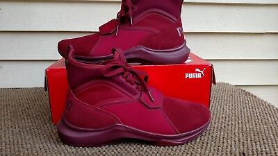 Puma Womens Phenom Suede Casual Sneaker Cordovan Maroon Burgundy Size 7 1 2  New 6921997ff