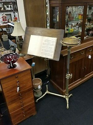 Very Rare Antique 1880s Foot's London Orchestra Music Stand J Foot & Son - NICE!
