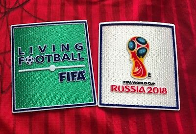 Set Soccer World Cup Russia 2018 Living Football Iron on Embroidered Patch Badge