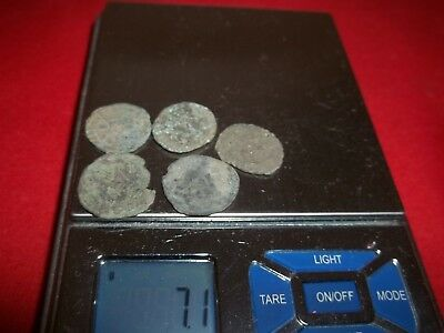 Ancient Roman AE Coins Follis 1/2 inch, 7+grams - Lot of 5x Ancient Rare coins