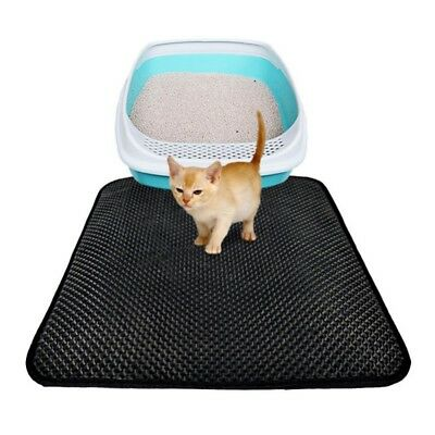 Waterproof Double-Layer Cat Litter Fordable Mat Kitten Trapper Dirt Catcher Pad