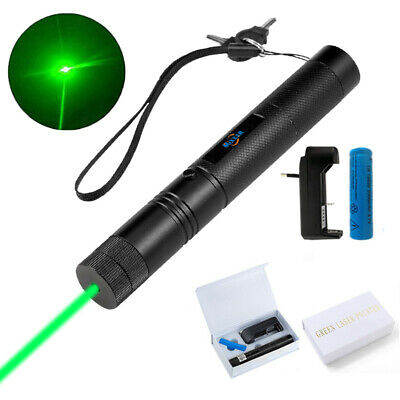 532nm Green Laser Pointer Pen 1Mw Visible Beam Flash Light+18650 Battery Charger