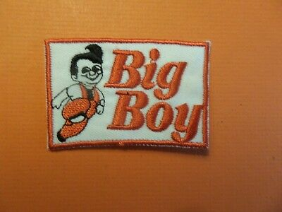 BIG BOY RESTRAUNTS white & black & red EMBRODIERED  IRON ON 1-7/8 X 2-3/4 PATCH