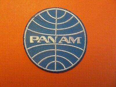 PAN AM AIRLINES  blue & white Embroidered 3 x 3 Iron On Patch
