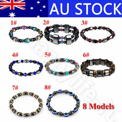 Unisex Magnetic Bracelet Beads Hematite Stone Therapy Health Care Magnet Beads