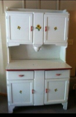 Vintage Antique Hoosier White Cabinet With Flour Bin Sifter