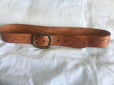 Wowens Tooled Leather Retro Belt S