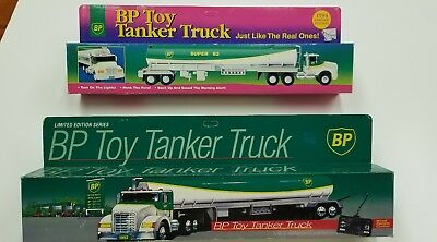 BP toy tanker trucks, 1992 & 1994 limited editions new in the boxes
