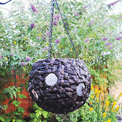 "Natural water hyacinth 9"" hanging basket with multi buy deals"