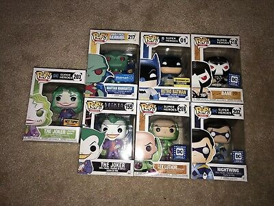 Funko Pop Batman Joker Bane Lex Manhunter