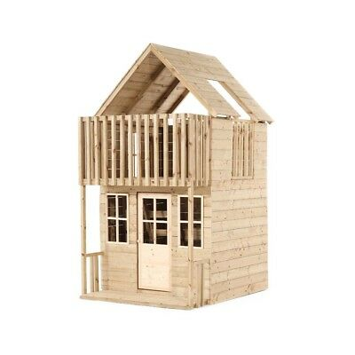 TP Toys Loft Wooden Playhouse Outdoor 2 Storey Playhouse