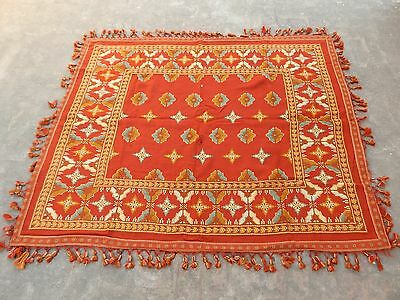 Large Vintage French Beautiful Hand Embroidery Tapestry 180x146cm (A1031)