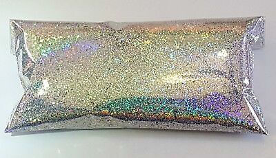 "6oz Premium Silver Rainbow Jewels Holographic MetalFlake .015"" Paint Additive"