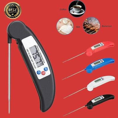 Digital LCD Food Thermometer Probe Temperature Kitchen Cooking Tool Meat & Water
